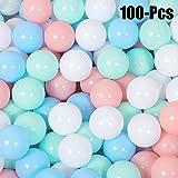 100PCS Colorful Ocean Ball, Coxeer Plastic Play Balls Ball Pit Swim Toys Fun Kid Toys