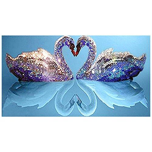 白鳥の湖 DIY ダイヤモンド絵画 クロスステッチ ラインストーン ダイヤモンド飾り絵 手芸刺繍 手作りキット Dewanxin (80 * 50センチ)