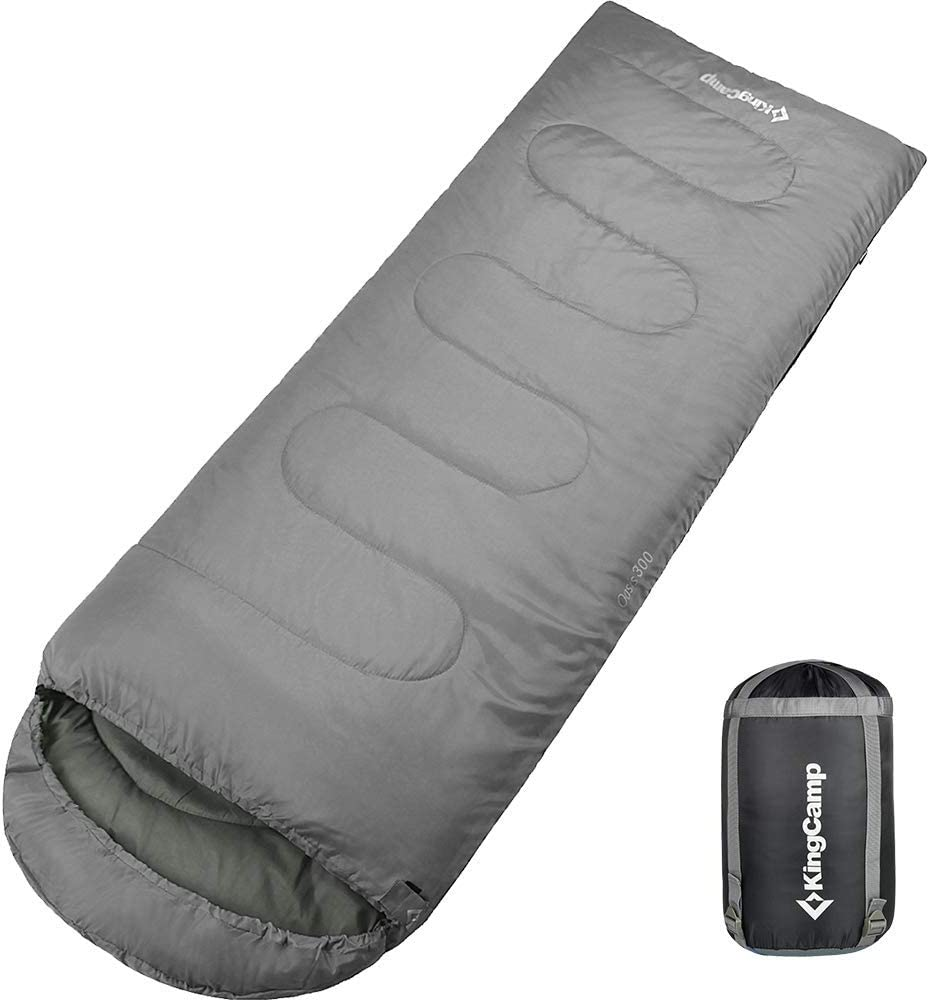 KingCamp Camping Sleeping Bag with Compression Sack, 3 Seasons Warm and Cool Weather for Adults and Kids, Lightweight Compact Comfort Portable for Camp, Traveling, Hiking, Outdoor