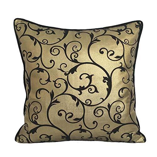 pillowerus Satin/Lame Spiral Pattern Gold/Black 18