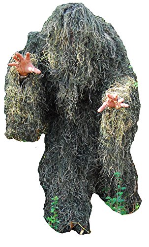 Stealth Kids Hunting, Halloween Ghillie Suit, 4 Piece, Woodland -