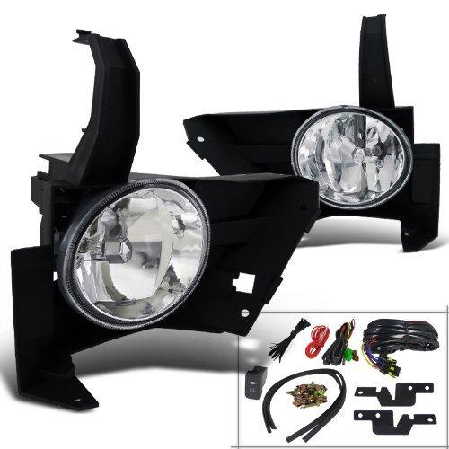 Spec-D Tuning LF-CRV05-WJ Honda Crv Cr-V Ex Lx Clear Fog Light Lamps Kit, Switch, (Fog Lamp Kit Part)