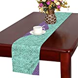 Arrow Texture Pattern Color Template Table Runner, Kitchen Dining Table Runner 16 X 72 Inch For Dinner Parties, Events, Decor