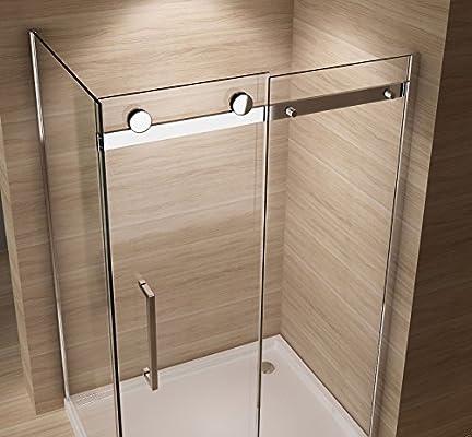 Mampara de ducha de junio de 120 x 80 cm con ducha Taza de ...