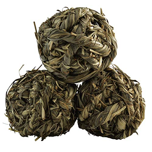 Poualss Natural Woven Timothy grass balls