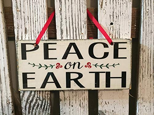 CELYCASY - Cartel de Madera con Texto en inglés Peace on ...