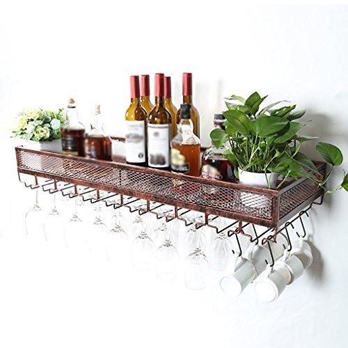 Yxsd estante de vino montado en la Pared, sostenedor del caliz de Cristal al revés Que cuelga el sostenedor de la Taza...