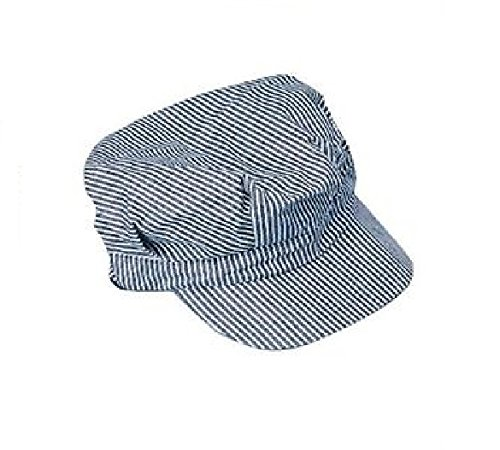 Engineer Hat - Blue and white (Train Engineer Hat)