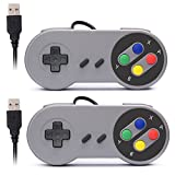 Rii SNES Retro Classic USB Super Nintendo Game Controller Gamepad Joystick for Raspberry Pi/ Mac /Windows PC (2 Pack)