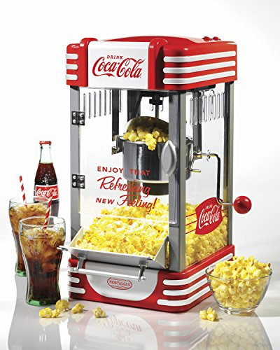 082677251978 - Nostalgia Coca-Cola Series RKP630COKE 2.5-Ounce Kettle Popcorn Maker carousel main 1