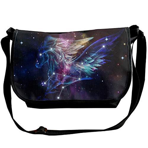 Bag Space Fashion Bag Pegasus Sign Versipacks Horoscope Women's Travel Designer Bag Black Crossbody rPUOrw