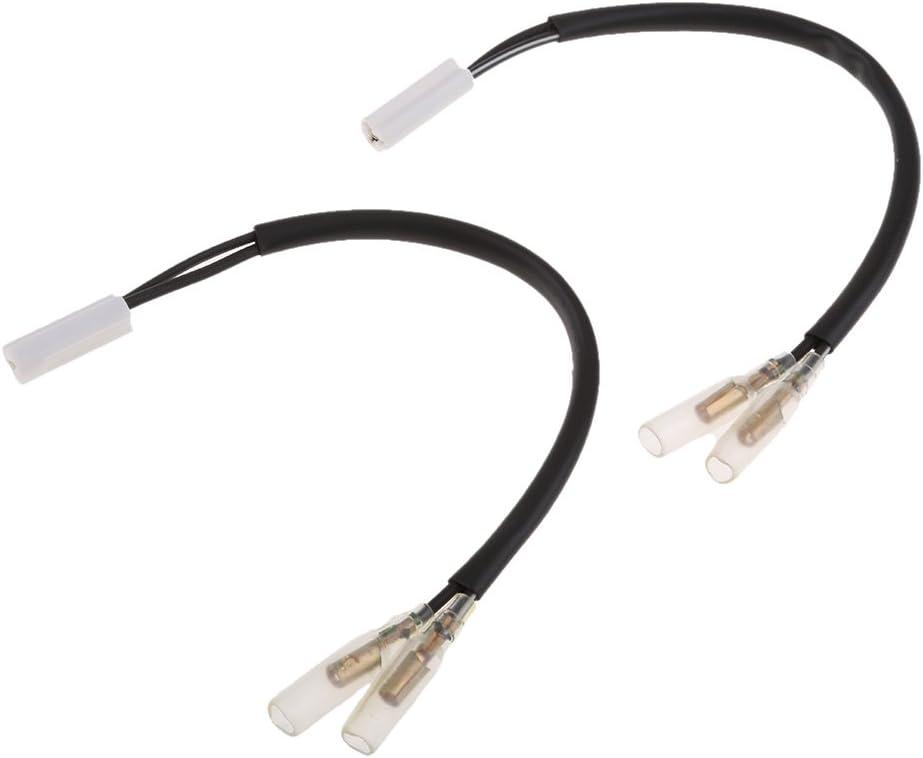 H HILABEE 2 Zinke 4pcs Blinker Adapter Stecker F/ür Yamaha YZF R3 R6 R1 Lampe