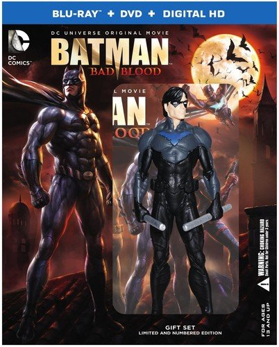 Assault Batman Figure - Batman: Bad Blood: Deluxe Edition (BD) [Blu-ray]