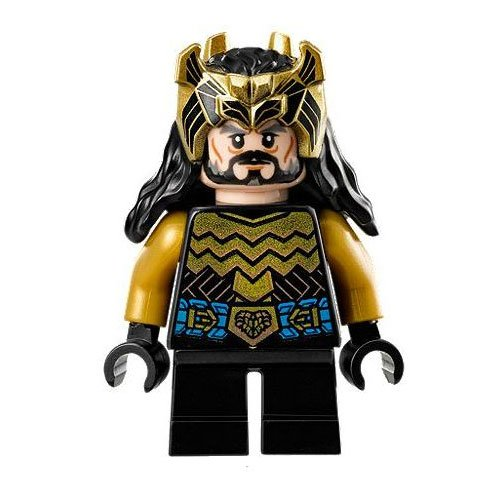 LEGO Minifigure - The Hobbit - THORIN OAKENSHIELD with Gold Armor & Crown