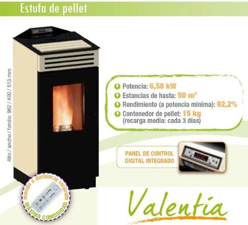 Estufa Pellet Cointra Valentia 6.5 KW: Amazon.es: Bricolaje y herramientas