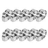 Qiilu 10 Pcs Adjustable Stainless Steel Drive Hose Clamps Fuel Line Worm Clips 3/8''-1/2''