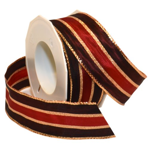 Morex Ribbon Kitzbuhel Wired Ribbon, 1-1/2-Inch by 22-Yard Spool, Holiday Red