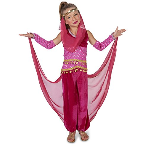 [Pink Genie Child Dress Up Costume XL] (Jasmine And Aladdin Costumes)