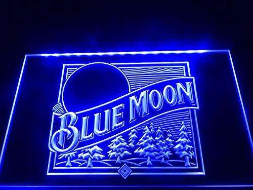 A167-b Blue Moon Beer Bar Pub Logo Neon Light Sign