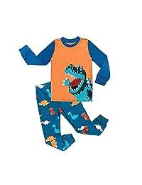 Garsumiss Dinosaur Pajamas Boys Long Sleeve Pjs Set Size 2-9 Years