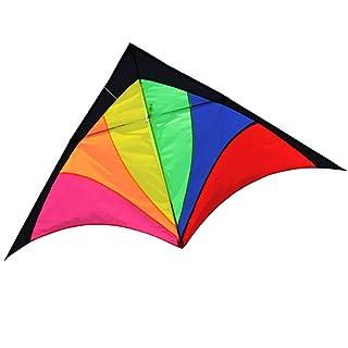 Aquilone Triangolo Arcobaleni Grandi Bambini Pergamene Colori Vivaci (Dimensioni : C)