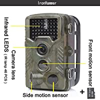 Trail Camera Hunting Game Scouting Camera 12MP 1080P IP56 Waterproof 2.4 Inch TFT LCD Display