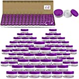 Beauticom 5G/5ML Round Clear Jars with Purple Lids for Beads, Gems, Glitter, Charms, Small Arts and Crafts Items - BPA Free (Quantity: 2000 Pieces)