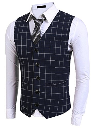 remium Business Dress Suit 5 Button Vests With Pocket (Five Button Suit Vest)