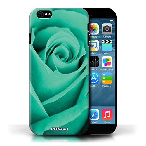 Etui pour Apple iPhone 6/6S / Turquoise conception / Collection de Rose