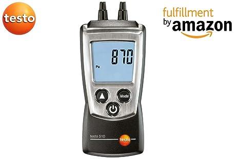 Testo 510 Set – Diferencial – Tensiómetro, junto con el Certificado de calibración