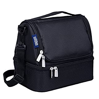 Wildkin Two Compartment Lunch Bag, Rip-Stop Black (B00ABB3HR6) | Amazon price tracker / tracking, Amazon price history charts, Amazon price watches, Amazon price drop alerts