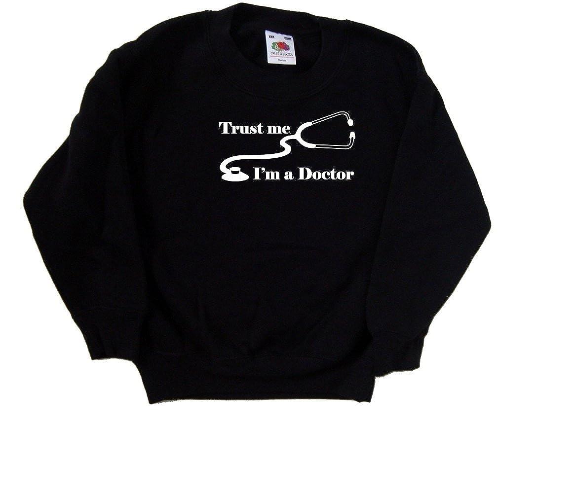 Trust Me Im A Doctor Funny Black Kids Sweatshirt