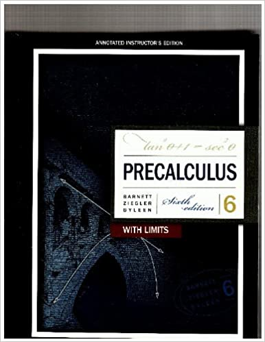 precalculus with limits by barnett 6th edition