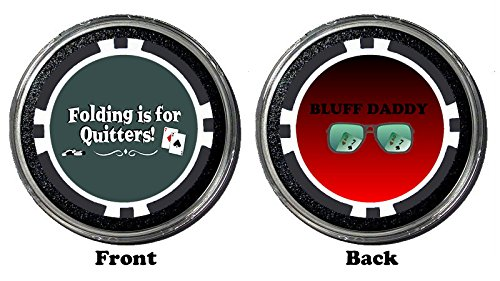Funny Poker Card Guard/Protector HOLDEM POKER PLAYING CARD COVER Gambling Coin (Bluff Daddy)