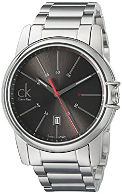 Calvin Klein Men's 'Select' Swiss Quartz Stainless Steel Automatic Watch, Color:Silver-Toned (Model: K0A21561)