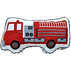 CN'Dragon Creative Car Pillow Cute Embroidery Cushion Stuffed Toy Birthday Gift Throw Pillows Plush Toys (Fire engine)