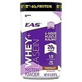 EAS Whey + Casein Protein Powder, Vanilla, 2 Pound