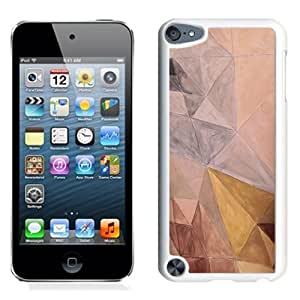 Lovely and Durable Cell Phone Case Design with Hand Drawn Abstract Triangle Shapes iPod Touch 5 Wallpaper in White