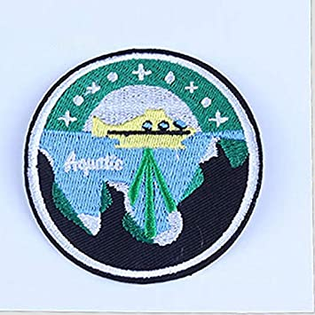 Da.Wa Sports Road Landscape Embroidered Applique Patch Patch Sewing Sticker DIY Handmade Patch