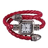 AutumnFall(TM) Women's Bracelet Bangle Cable Leather Braided Wrap Review and Comparison
