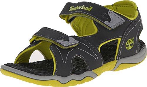 Timberland Kids Unisex Adventure Seeker 2 Strap Sandal (Big Kid) Dark Grey/Green 5 M US Big Kid ()