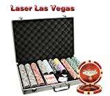 MRC 650pcs Las Vegas Laser Poker Chips Set with Aluminum Case