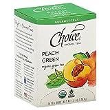 Choice Organic Teas Gourmet Green Tea, Peach Green, 16 Count