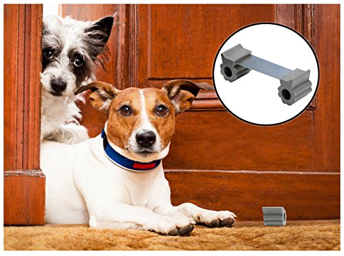 Door Stopper - Revolutionary New Design Stops Movement Forward and Backward - Holds Doors Securely in Place - Ideal for Pet And Child Safety Interior and Exterior Doors - 2 Door Stops Per Pack - Grey by GTP (Image #3)