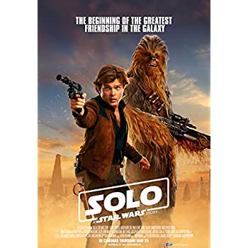 FREE P+P CHOOSE YOUR SIZE SOLO Movie Poster Star Wars Han Solo 2018 New Film