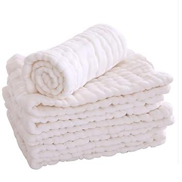 QIAN Pañales de gasa de algodón suministros de bebé recién nacidos lavables pañales de tela transpirable