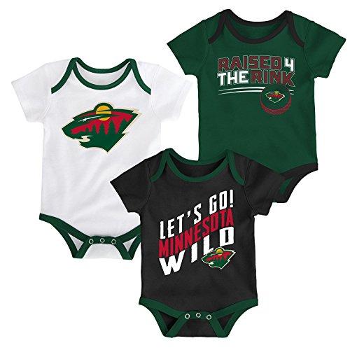 sota Wild Newborn & Infant Power Play Onesie Set (3 Pack), 24 Months, White ()
