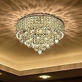 N3 lighting Ø40CM Premium 6-LIGHTS G9 Modern Elegant Round Ceiling Light Pendant Fixture Lighting Crystal Chandelie
