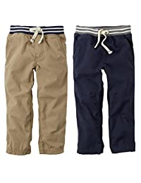 Carter's Baby Boys 2 Pack Soft Canvas Pants Navy/Khaki 3-24 Months
