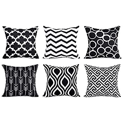 Top Finel Decorative Pillow Cover Set Durable Canvas Outdoor Cushion Covers for Couch Bedroom Car